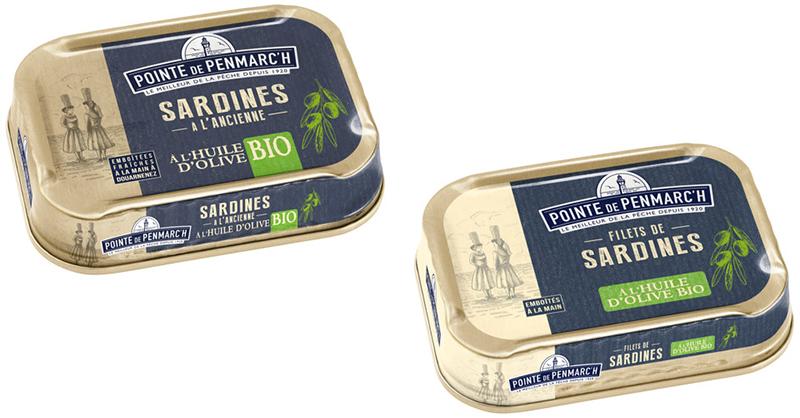 Pointe de Penmarc'h Gamme sardines bio