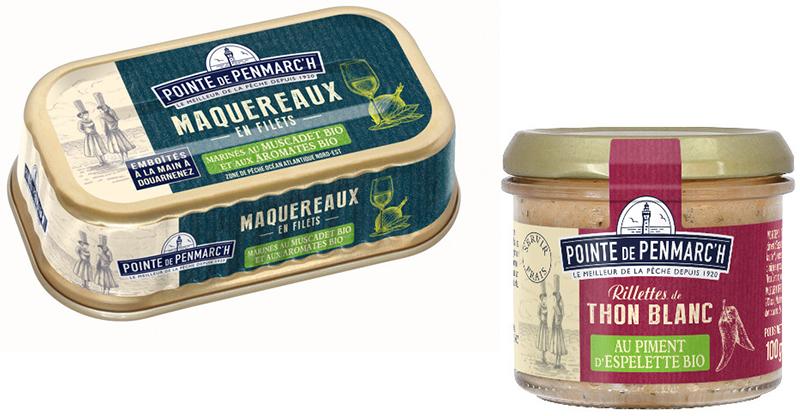 Pointe de Penmarc'h Filets de maquereaux rillettes de thon bio