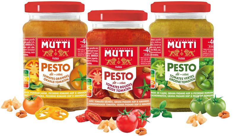 Gamme Pesto tomates Mutti
