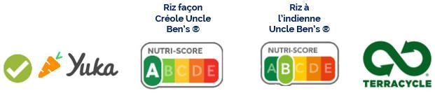 Gamme Épices du monde d'Uncle Ben's® Nutri-score