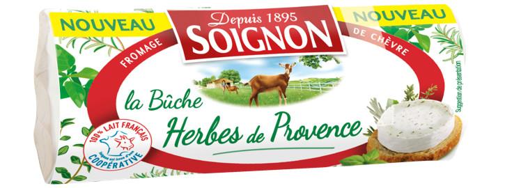 SOIGNON Bûche de chèvre aux herbes de Provence