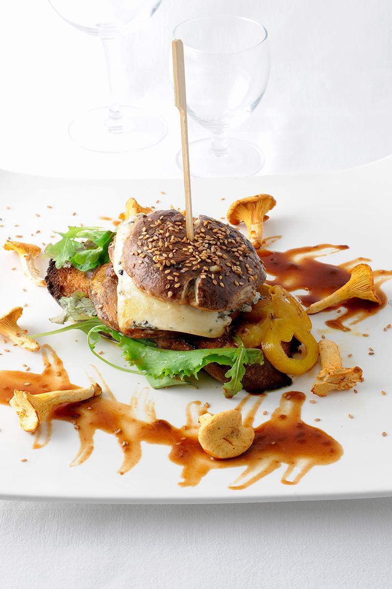Burger Bleu des Basques et cèpes