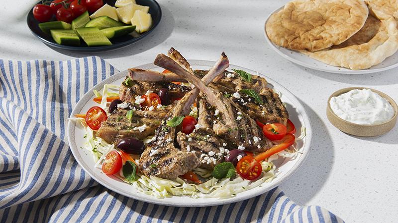 Côtelettes d'agneau marinade grecque
