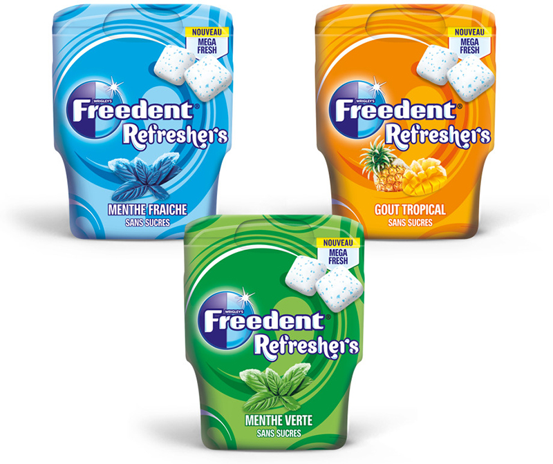Gamme Freedent Refreshers
