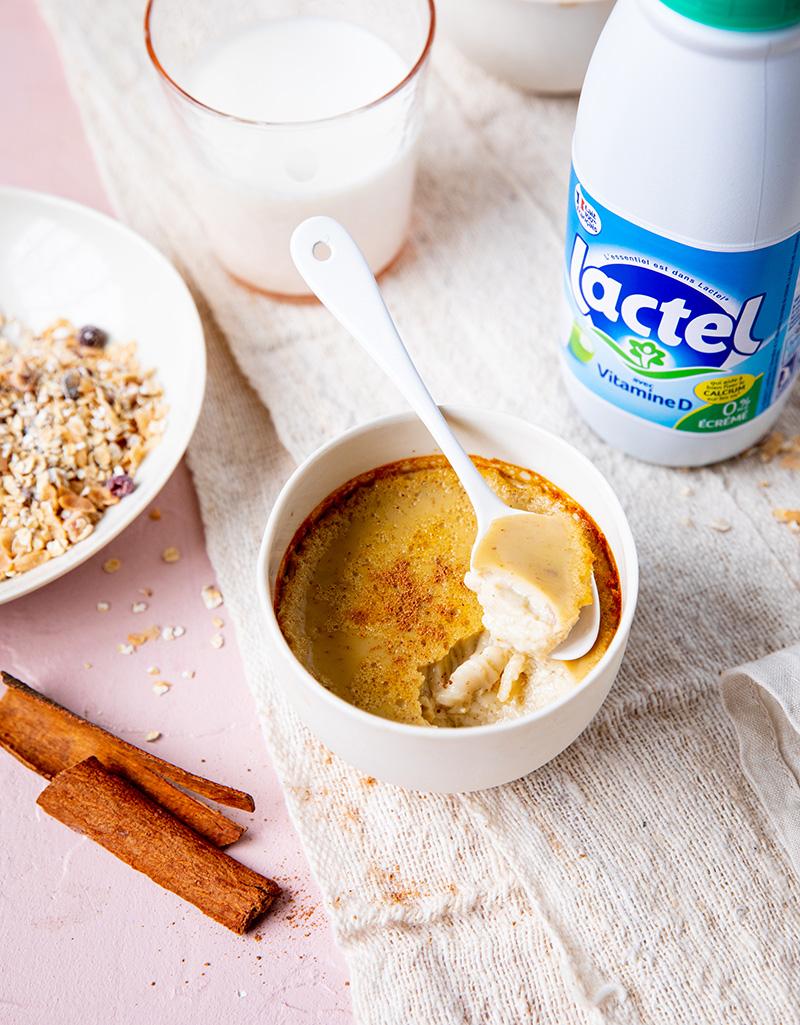 Le power breakfast, œufs au lait épices chaï