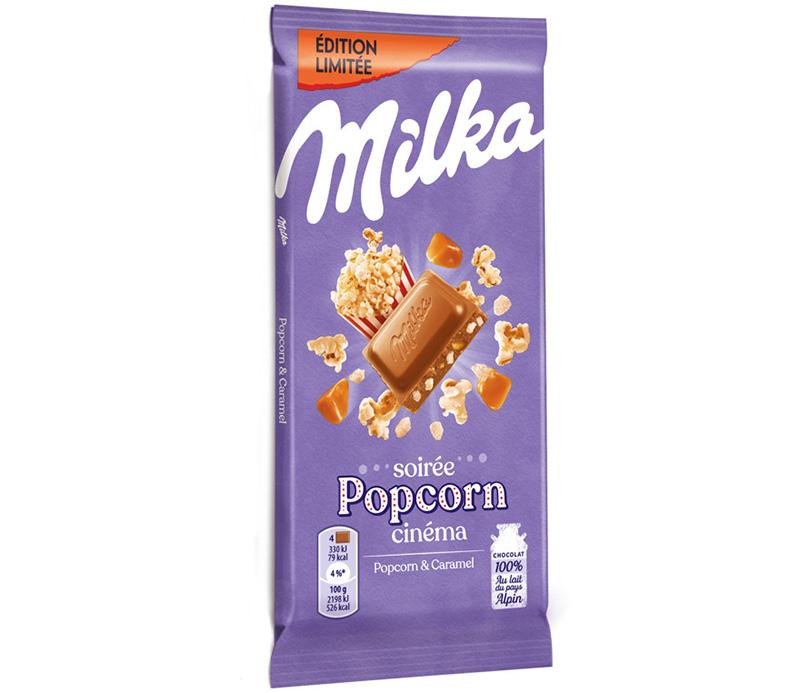 Soirée popcorn cinéma Milka
