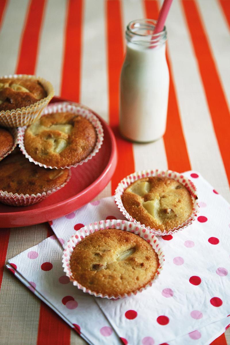 Muffins poires et noix