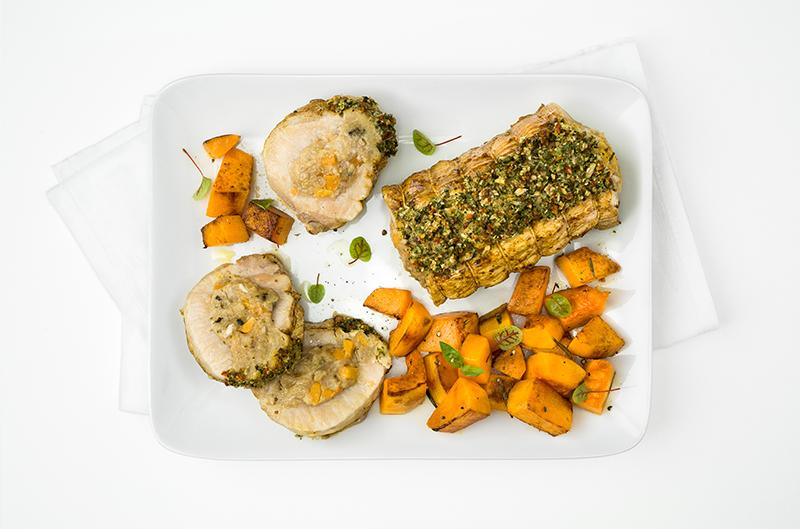 RÔTI DE PORC butternut & oignon
