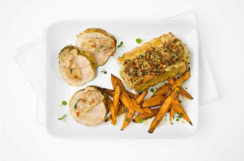 RÔTI DE PORC chou vert, pomme de terre & carotte