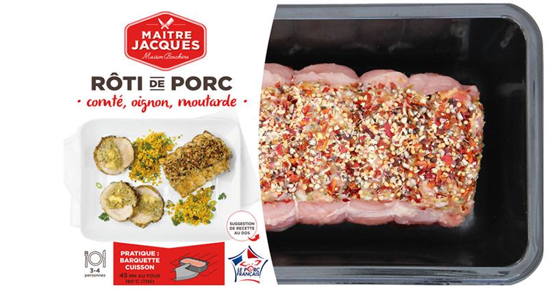 RÔTI DE PORC comté, oignon & moutarde