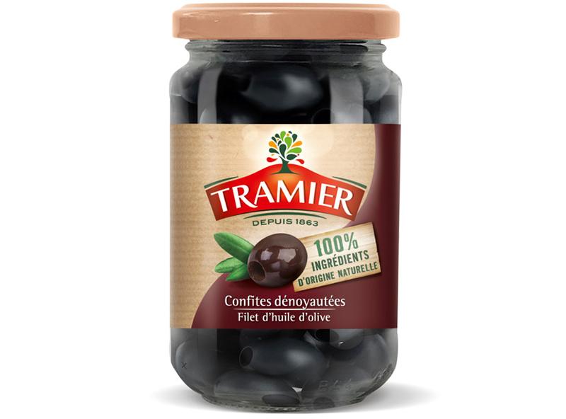 Tramier Olives noires confites dénoyautées