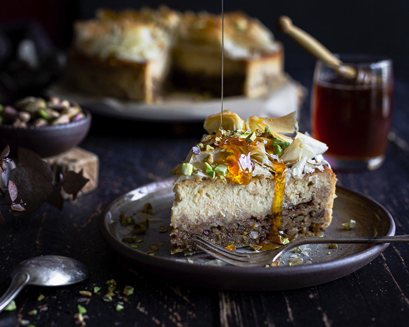 Cheesecake façon baklava miel de châtaignier