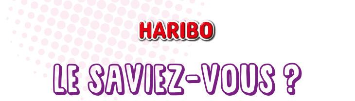 Haribo le saviez-vous ?