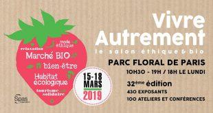 """""""Salon Vivre Autrement"""" du 15 au 18 mars 2019 : ViniBio, le salon du vin bio présent !"""