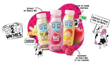 Photo de Les 2 Vaches lance son 1er yaourt à boire : Vachement Bio à Boire !