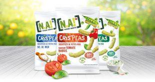 """[N.A!] lance les """"CRIS'PEAS"""" les soufflés apéritifs les plus craquants de l'uni-vert !"""