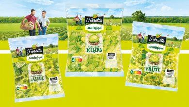 """Photo de 3 salades Florette® issues d'une nouvelle démarche agricole : """"Agrilogique"""""""