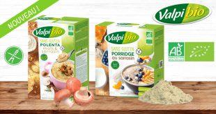 """Deux nouveautés Valpibio, """"le Porridge et la Polenta"""", maintenant aussi sans gluten !"""