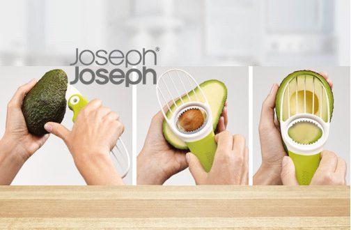 """GoAvocado™"" par Joseph® Joseph, l'ustensile 3 en 1 pour manger sain"