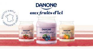 """Nouveau yaourt Danone """"aux Fruits d'Ici"""""""