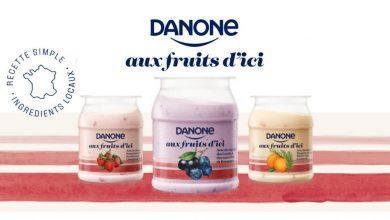 """Photo de Nouveau yaourt Danone """"aux Fruits d'Ici"""""""