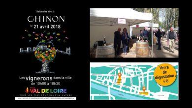 """Photo de Salon des Vins à """"CHINON"""" Les vignerons dans la ville le 21 avril 2018"""