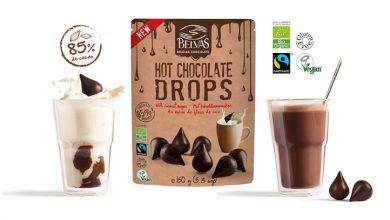 """Photo de BELVAS fait le show avec ses nouvelles """"Drops"""" : des gouttes de chocolat bio au sucre de fleur de coco"""