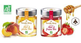 """Nouveaux """"Miels & Fruits"""" Bio Famille Mary®"""