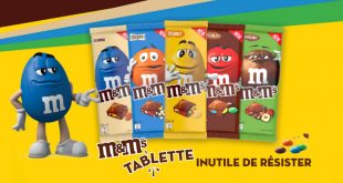 M&M's® bouscule le marché des tablettes en chocolat !