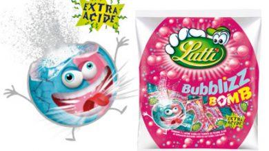 Photo de Lutti lance le Bubblizz BOMB, un bonbon coloré, piquant et acide…