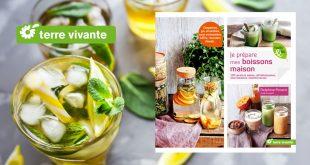"""""""Je prépare mes boissons maison"""" de Delphine Pocard & Aude Laurent aux Éditions Terre vivante"""