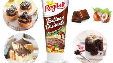 Photo de Le Chocolat Noisettes de Régilait® met les Tartines et les Desserts en folie !