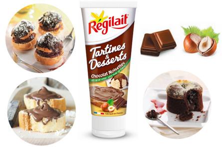 Le chocolat noisettes de r gilait met les tartines et les for Regilait cuisine
