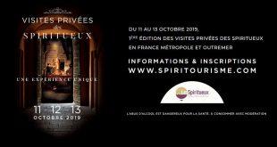 """Du 11 au 13 octobre 2019, rendez-vous pour la 1ère Édition des """"Visites Privées"""" des Spiritueux"""