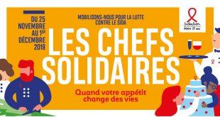 """Sidaction lance la 11ème Édition des """"Chefs Solidaires"""" du 25 novembre au 1er décembre 2019"""
