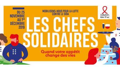 """Photo de Sidaction lance la 11ème Édition des """"Chefs Solidaires"""" du 25 novembre au 1er décembre 2019"""
