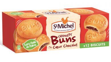 """Photo de """"Crousty Buns Cœur Chocolat"""" de St Michel, un biscuit à partager au goûter !"""