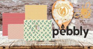 """Feuilles d'emballage alimentaire à la """"cire d'abeille"""" PEBBLY"""