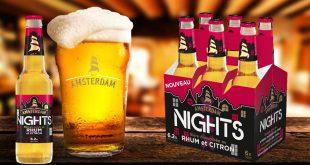"""Amsterdam lance """"Nights"""", sa nouvelle bière aromatisée au rhum et au citron"""