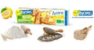 Bjorg dévoile sa nouveauté sucrée, les biscuits avoine, citron et graines de chia !