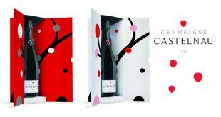 """Festive et audacieuse, la Cuvée """"Brut Rosé"""" de Champagne CASTELNAU se décline en 2 coffrets"""