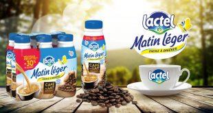 """Café au lait """"Matin Léger®"""" de Lactel® 30% moins sucré"""