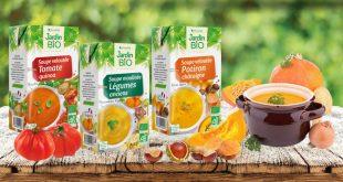 """Jardin BiO propose un peu de réconfort avec ses 3 nouvelles """"Soupes de Légumes"""" Bio !"""
